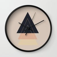 nudes Wall Clocks featuring Fear of Separation by Bunhugger Design