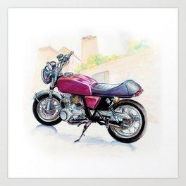 Rosso Honda (Motocicletalia) Art Print