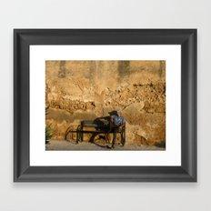 Man in Meknes, Morocco Framed Art Print
