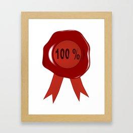 Wax Stamp 100 Percent Framed Art Print