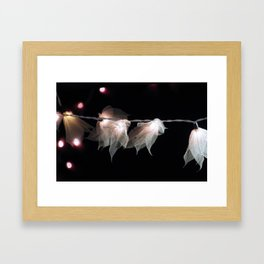 Flower lights Framed Art Print