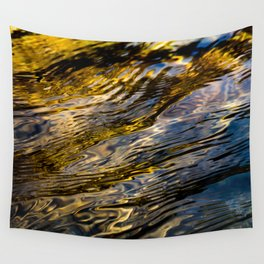 River Ripples in Copper Gold and Brown Wall Tapestry