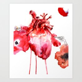Break your Heart Art Print