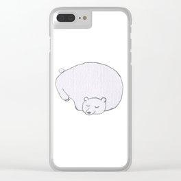 sleeping bear illustration Clear iPhone Case