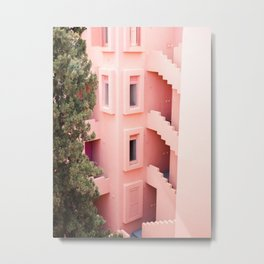Muralla Roja photography print | abstract travel art | escher like building architecture photo Metal Print