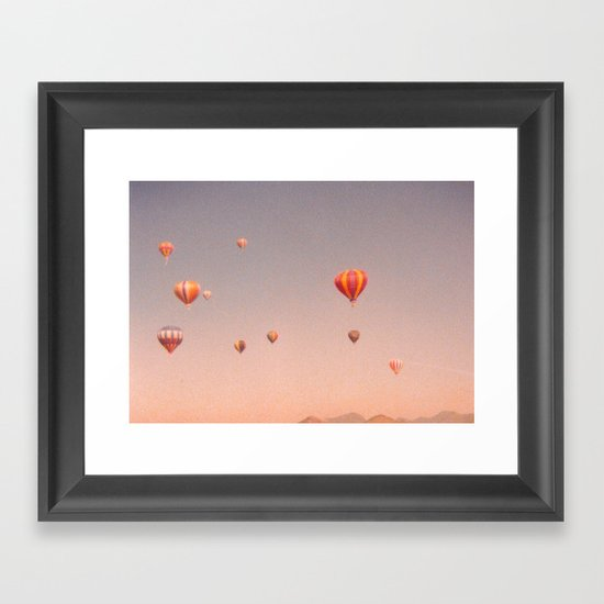 vintage hot air balloons in rio Framed Art Print
