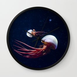 THE GRACE OF JELLYFISH Wall Clock