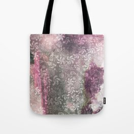 Lace Sky Collage Tote Bag
