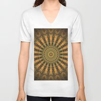 indie V-neck T-shirts featuring Indie Sun by Jane Lacey Smith