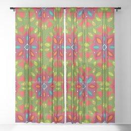 FLOR XL green Sheer Curtain