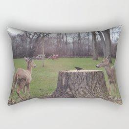 Traveling Deer Rectangular Pillow