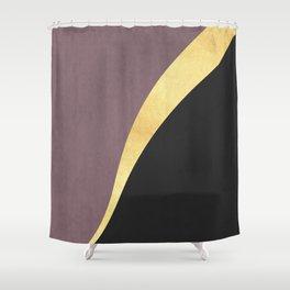 Golden line XI Shower Curtain