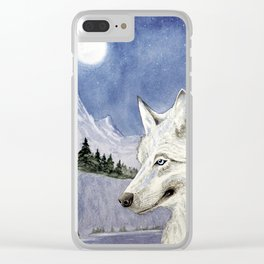 The Lone Wolf Clear iPhone Case
