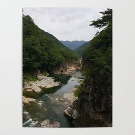 Ryuokyo Gorge Nikko Japan | Beautiful Waterfall River Photo Poster