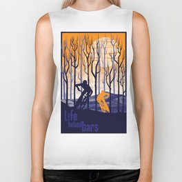 retro mountain bike poster, Life behind bars Biker Tank