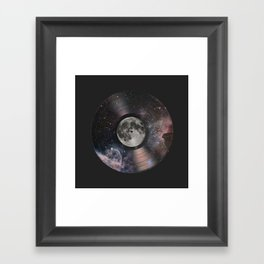 L.P. (Lunar Phonograph) Framed Art Print