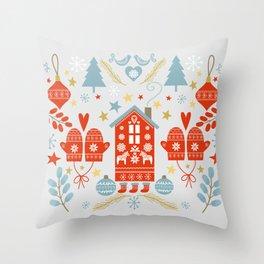 Laplander Winter Holiday Throw Pillow