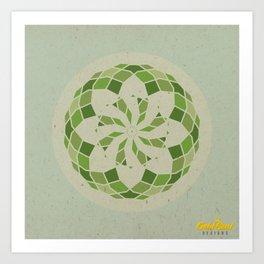 Heart Chakra Mandala Art Print