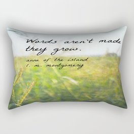 Anne Green Gables Quote Words Rectangular Pillow