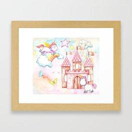 Unicorn Avalon Island Framed Art Print