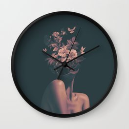 Dead Flowers Wall Clock