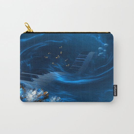 Blue coral melody  Carry-All Pouch