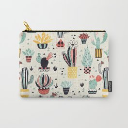 Cacti in a Flower Pot Carry-All Pouch