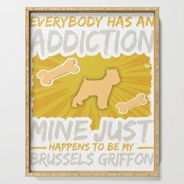 Brussels Griffon Funny Dog Addiction Serving Tray