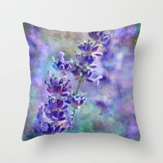 Lavender Grunge Throw Pillow