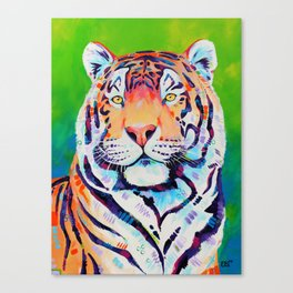 "Tiger art ""Shining Bright"" Canvas Print"