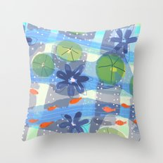 Lily Pond Life Throw Pillow