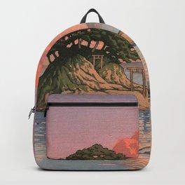Kujukushima Shimabara by Kawase Hasui - Japanese Vintage Woodblock Ukiyo-e Backpack