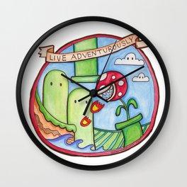 Live Adventurously Wall Clock
