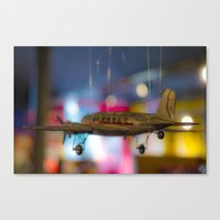 plane Canvas Prints featuring Plane by Sébastien BOUVIER