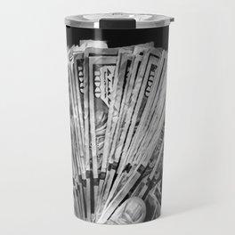 Money - Black And White Travel Mug