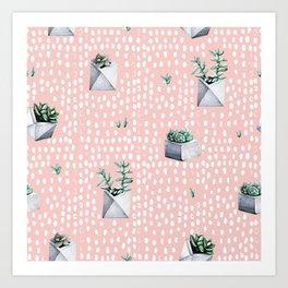Cactus Pattern 04 Art Print