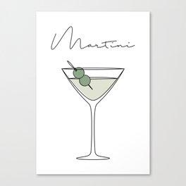 Martini Canvas Print