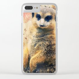 Mrs. SURICATE Clear iPhone Case