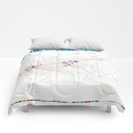 Indie Rock Music Poster Comforters