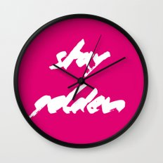 stay golden_pink Wall Clock