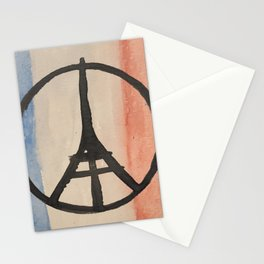 Paris Peace Symbol Eiffel Tower French Tricolor Stationery Cards