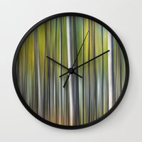 blur Wall Clocks featuring Blur by Angela King-Jones