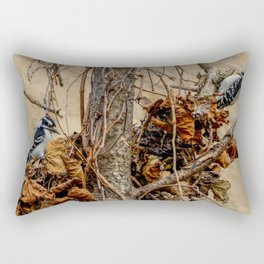 A couple of Downy's by Teresa Thompson Rectangular Pillow