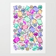Jeweled Art Print