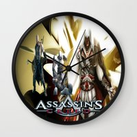 assassins creed Wall Clocks featuring Assassins Creed   by store2u