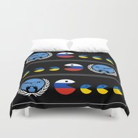 ukraine Duvet Covers featuring United Nations Russia and Ukraine by mailboxdisco