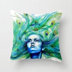 Metamorphosis-peacock Throw Pillow