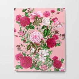 Spring In Bloom Pink Metal Print