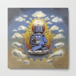 Buddha Bot v5  Metal Print