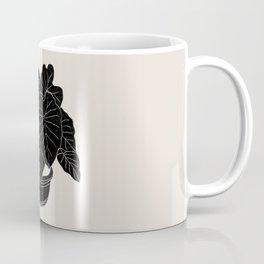 Black & White Plants / Elephant Ear Coffee Mug